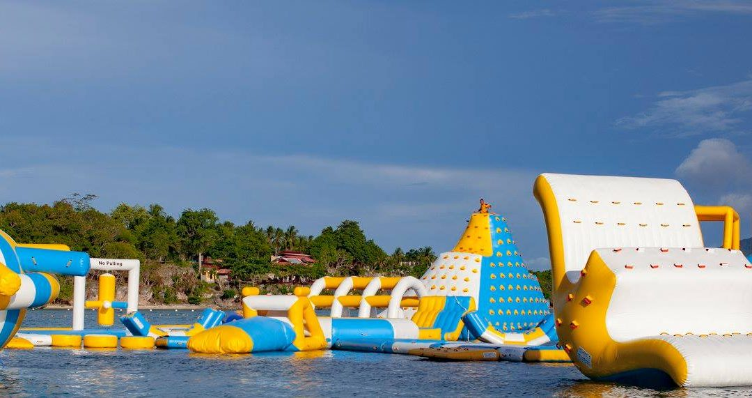 Inflatable Island Adventure at Blue Bless Beach Resort, Davao Oriental